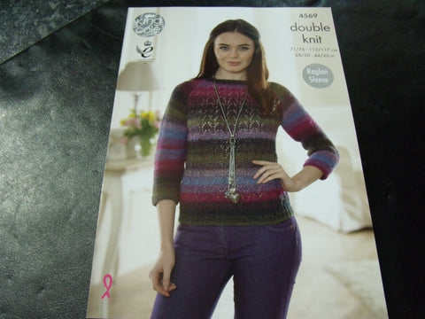 King Cole Double Knit Pattern 4569 Sweaters
