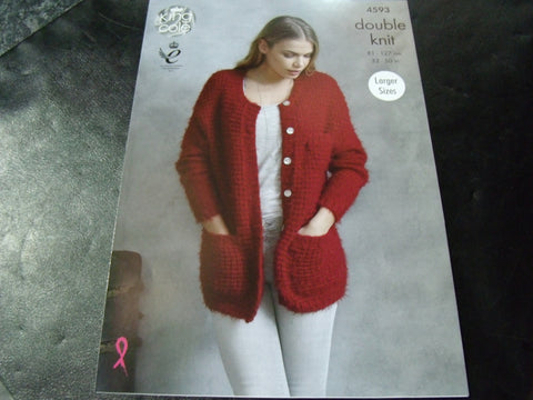 King Cole Double Knit Pattern 4593 Ladies Jackets