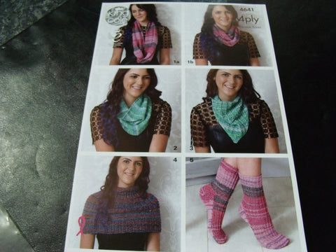 King Cole 4 Ply Knitting Pattern 4641 Fun Accessories