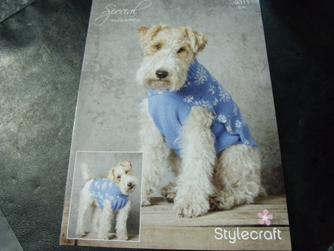 Stylecraft Snowflake Dog Jacket Pattern 9311