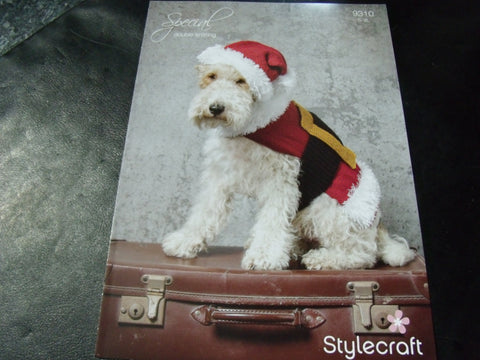 Stylecraft Santa Dog Coat and Hat Pattern 9310