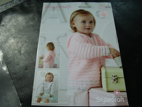 Stylecraft Wondersoft Double Knit Crochet Pattern 9325
