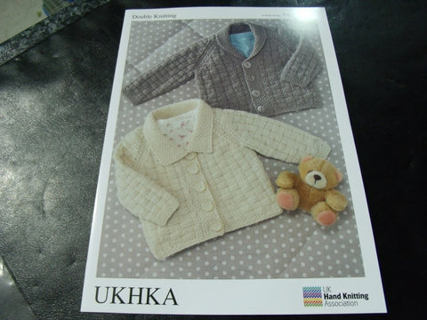 UKHKA Double Knitting Pattern 59 Cardigans 16 - 26 in