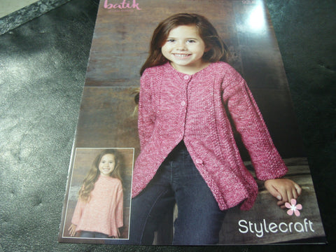 Stylecraft Batik Double Knitting Pattern 9296 (2 Easy Knit Designs)