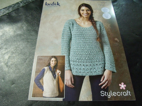 Stylecraft Batik Double Knit Crochet Pattern 9294 (2 Crochet Designs)