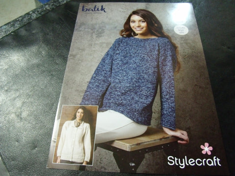 Stylecraft Batik Double Knitting Pattern 9289   (2 Easy Knit Designs)