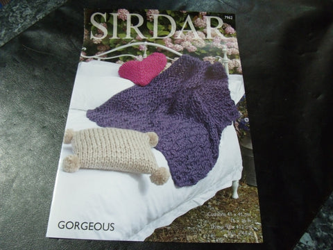 Sirdar Gorgeous Ultra Chunky Knitting Pattern 7962 Home Accessories
