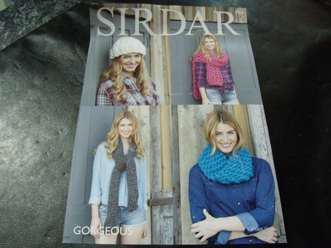 Sirdar Gorgeous Ultra Chunky Knitting Pattern 7964 Snood, Hat and Scarve's
