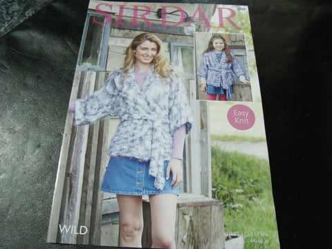 Sirdar Wild Knitting Pattern 7968 Easy Knit Kimino