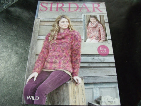 Sirdar Wild Knitting Pattern 7969 Easy Knit Sweater