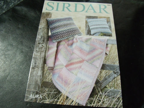 Sirdar Aura Chunky Knitting Pattern 7882 Throw and Cushion Covers