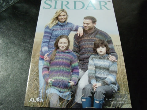 Sirdar Aura Chunky Knitting Pattern 7881 Sweaters