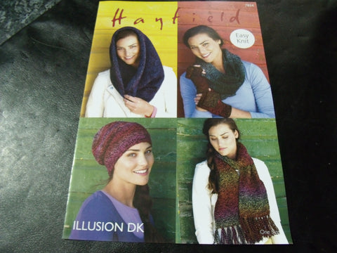 Hayfield Illusion Double Knitting Pattern 7854