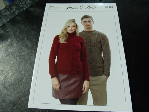 James C Brett Twisted Knitting Pattern JB422