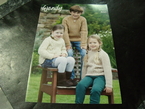Wendy Aran Pattern 6016 Childrens Sweaters
