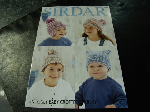 Sirdar Snuggly Baby Crofter Chunky Knitting Pattern 4781