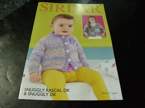 Sirdar Snuggly Rascal Double Knitting Pattern 4773