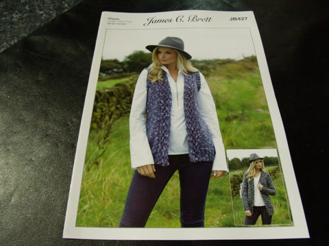 James C Brett Chunky Knitting Pattern JB427