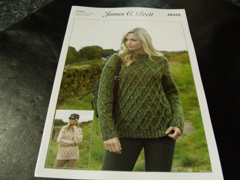 James C Brett Chunky Knitting Pattern JB428