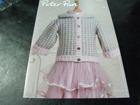 Peter Pan Double Knitting Pattern P1283 Hooded Jacket