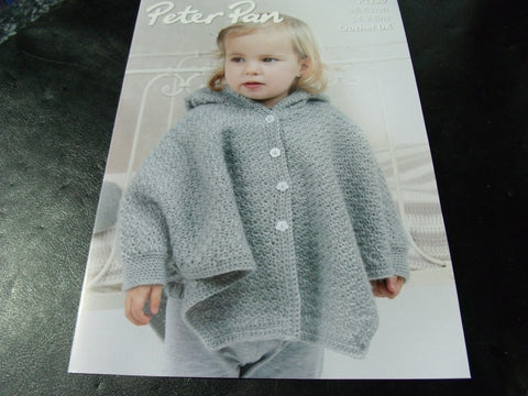 Peter Pan Crochet  Pattern P1280 Hooded Cape