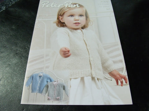 Peter Pan Cardigans Pattern P1279 Double Knitting