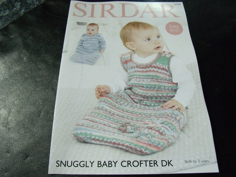 Sirdar Snuggly Baby Crofter Double Knitting Pattern 4755