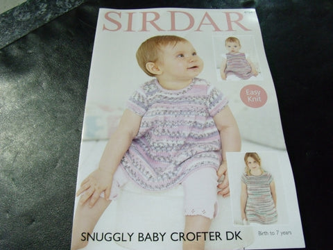 Sirdar Snuggly Baby Crofter Double Knitting Pattern 4754