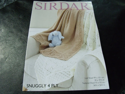 Sirdar Snuggly 4 Ply Knitting Pattern 4741 Shawl in two designs