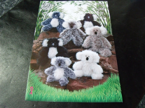 King Cole Luxe Fur Koala Knitting Pattern 9058