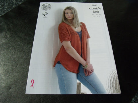 King Cole Double Knit Pattern 4831 Cardigan and Sweater