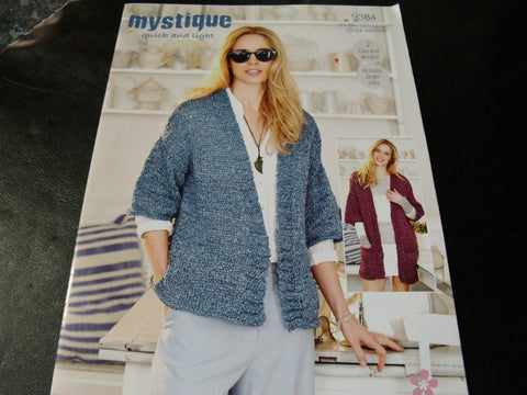 Stylecraft Mystique Quick and Light Knitting pattern 9384
