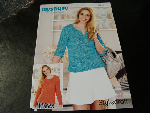 Stylecraft Mystique Quick and Light Knitting pattern 9382