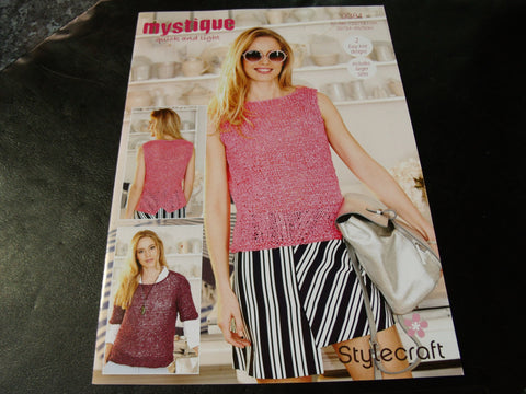 Stylecraft Mystique Quick and Light Knitting pattern 9381