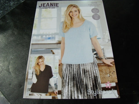 Stylecraft Jeanie Denim Look Tops Pattern 9358