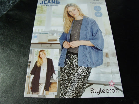 Stylecraft Jeanie Denim Look Jacket and Coat Pattern 9361