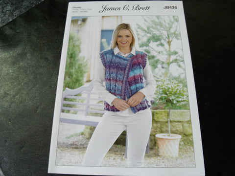 James C Brett Chunky Knitting Pattern JB436