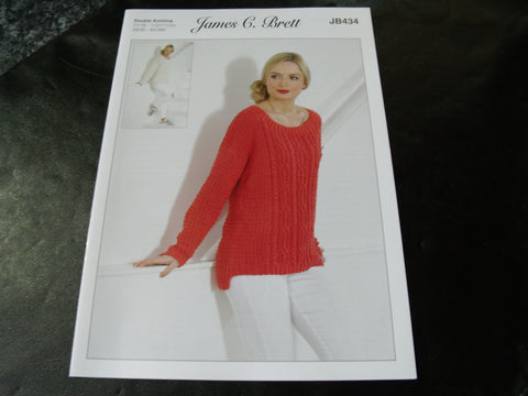James C Brett Double Knitting Pattern JB434
