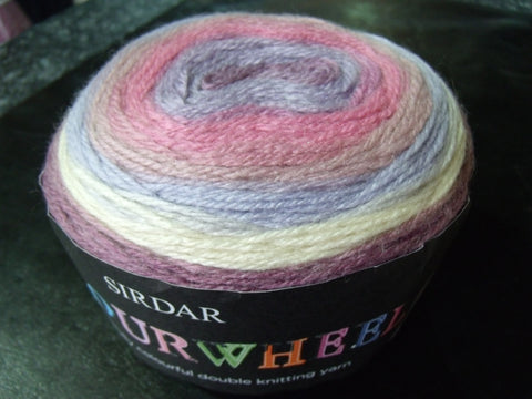 Sirdar Colourwheel. A Wonderfully colourful double knitting yarn