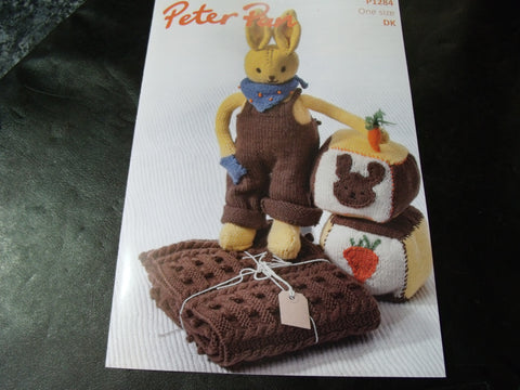 Peter Pan Bobble Blanket, Rabbit and Play Blocks Pattern P1284