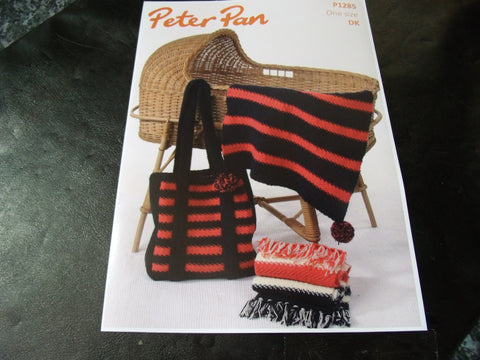 Peter Pan One Size Buggy Blankets and Bag Pattern P1285