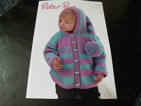 Peter Pan Striped Jacket with Pixie Hood Pattern P1289