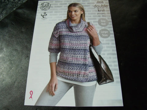 King Cole Double Knit Pattern 4856 Ladies Cardigans