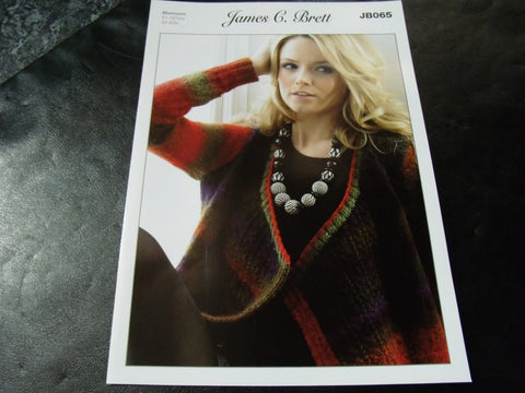 James C Brett Aran Knitting Pattern JB065