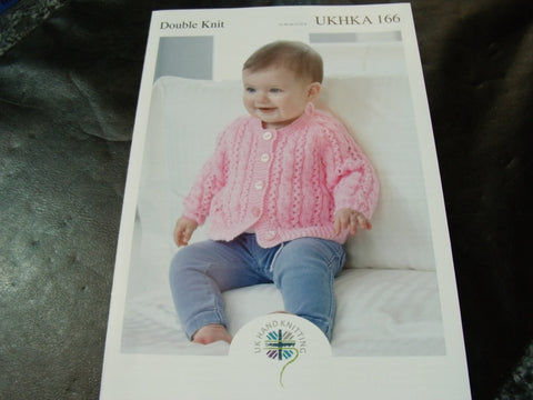 UKHKA Double Knitting Pattern 166 Cardigan and Sweater