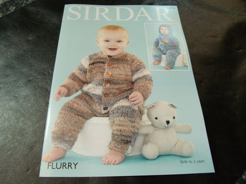 Copy of Sirdar Flurry Chunky Knitting Pattern 4766 All in Ones