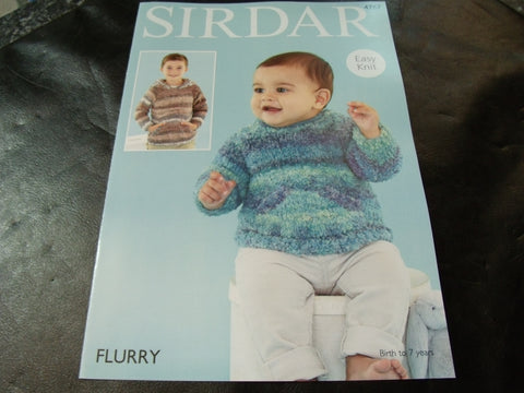 Copy of Sirdar Flurry Chunky Knitting Pattern 4767 Baby's and Boy's Sweaters