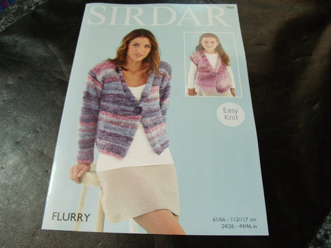 Sirdar Flurry Chunky Knitting Pattern 7960 Jackets