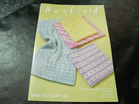 Hayfield Baby Blossom Double Knitting Blankets Pattern 4840