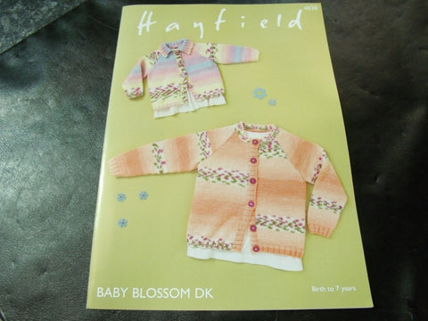 Hayfield Baby Blossom Double Knitting Cardigans Pattern 4838